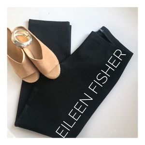 {Eileen Fisher} like new thick rayon straight leg